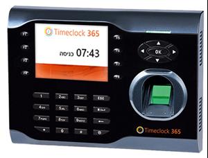 תמונה של שעון נוכחות ביומטרי עם פורטל ניהול אונליין Timeclock 365